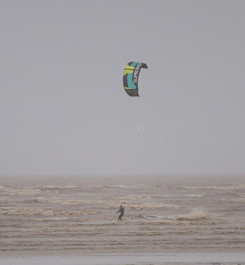 Weston Super Mare Kitesurfing arkivfoton