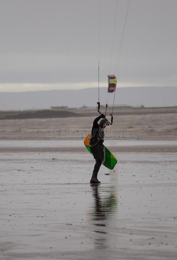 Weston Super Mare Kitesurfing stockbild