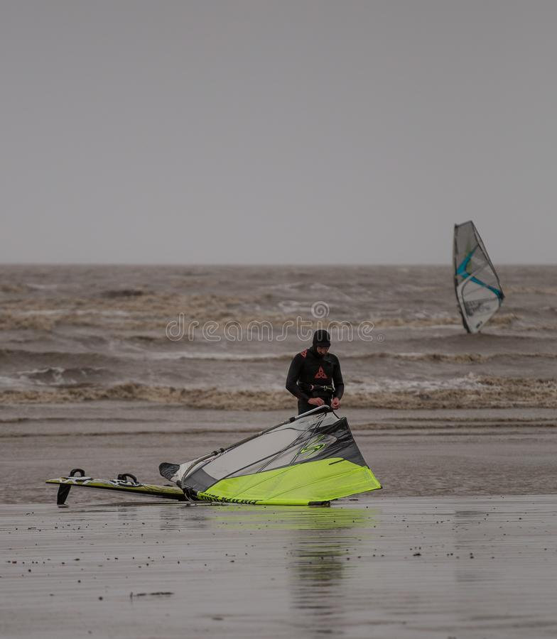 Weston Super Mare Kitesurfing stockfotos