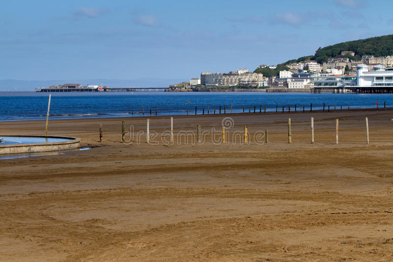Weston-super-Mare Sea Front Stock Photo