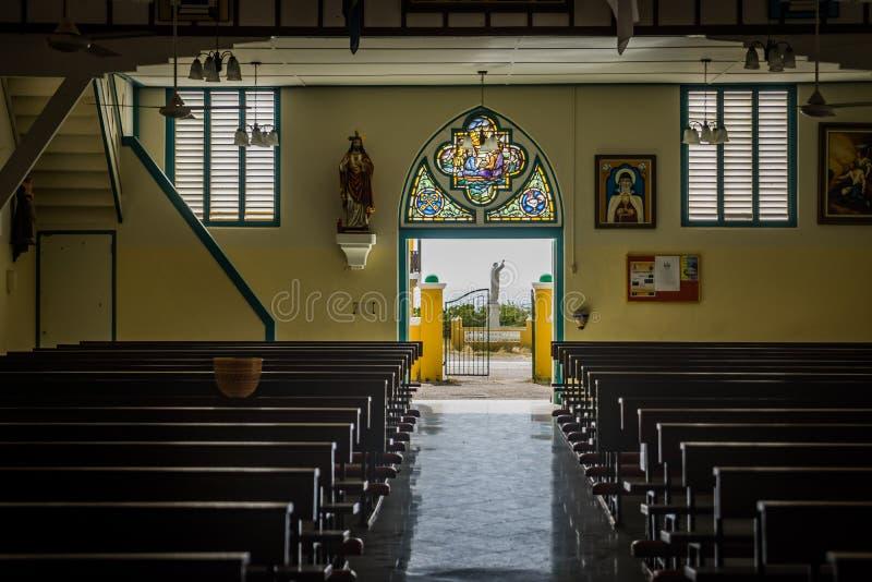 Westpunt Curacao Kościelni widoki fotografia stock