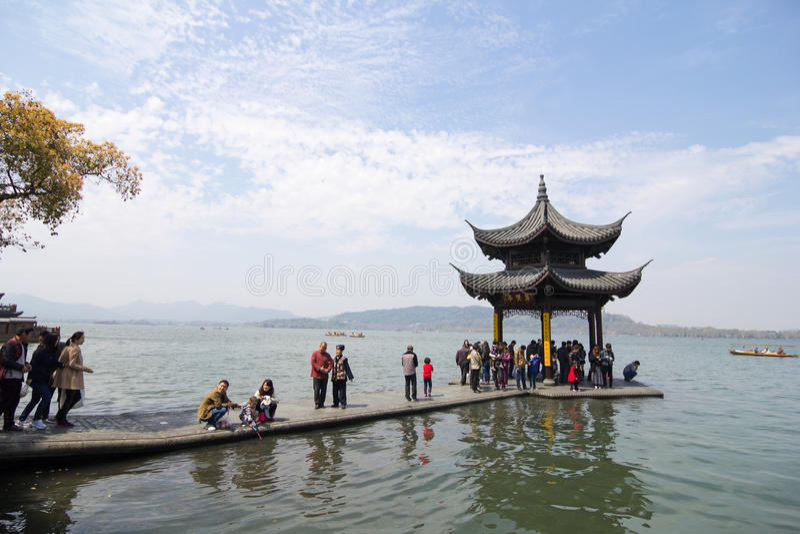 Westsee, Hangzhou lizenzfreies stockbild