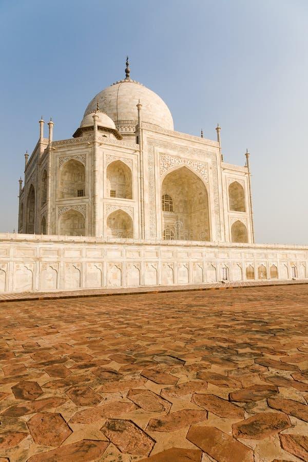 Westseite, Taj Mahal, Indien stockfotos