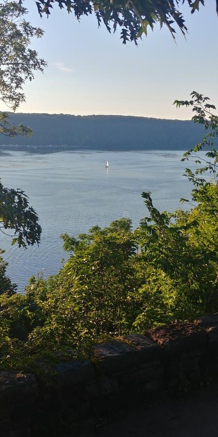 Westside supérieur Hudson River de bateau à voile photo libre de droits