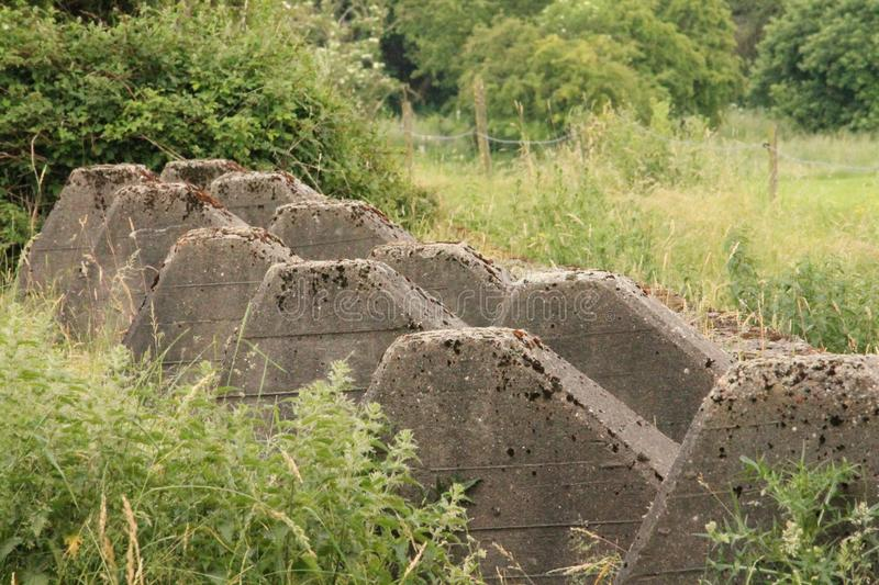 Westwall/Siegfried Line WW2 Germania fotografie stock