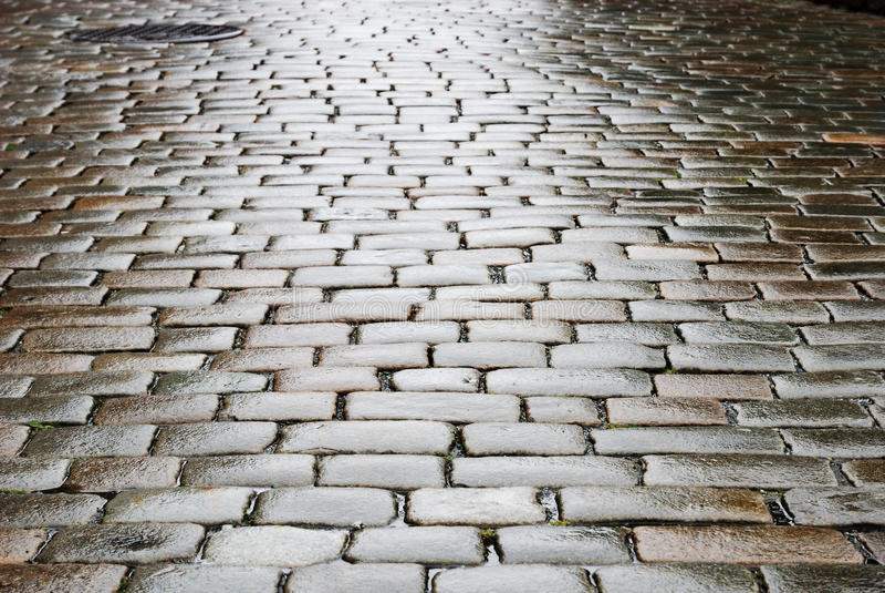 Download Wet Block-stones Of Sett Paving Stock Photo - Image: 16279986