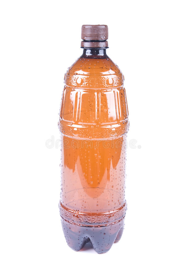 Download Wet Brown Plastic Bottle stock image. Image of pattern - 26093913