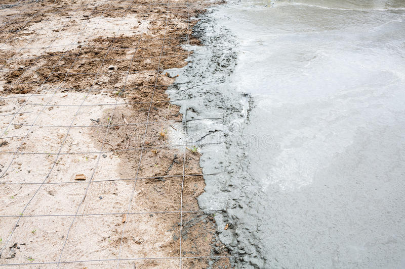 Download Wet cement concrete stock image. Image of floor, occupation - 32090455