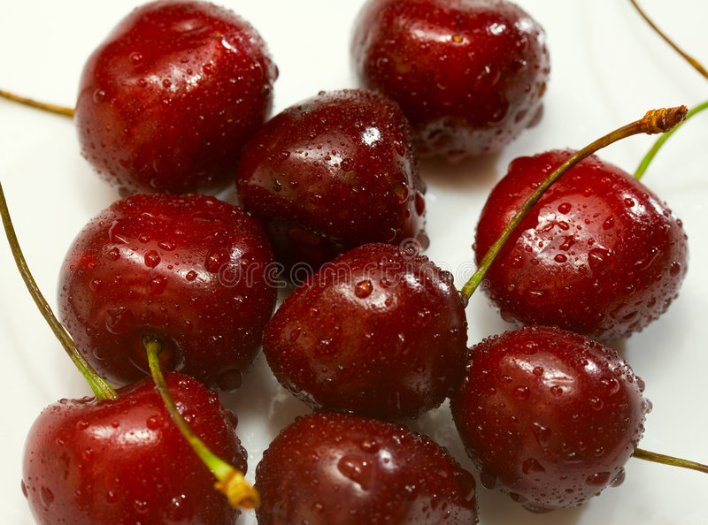 Download Wet Cherry. Royalty Free Stock Images - Image: 5594349