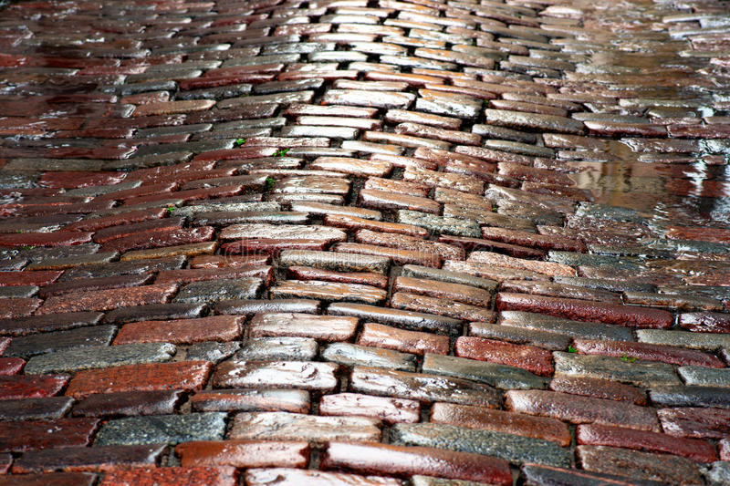 Download Wet cobblestones stock image. Image of puddle, close - 26070913