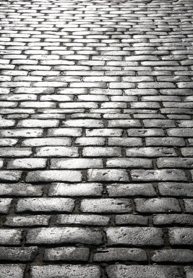 Download Wet cobblestones. stock image. Image of oblong, shiny - 3815731