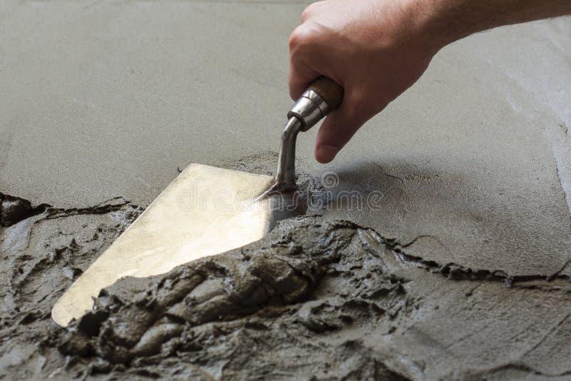 Wet concrete royalty free stock photos