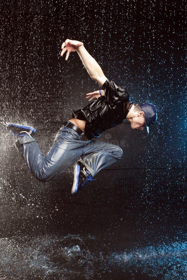 Wet dancer stock photography