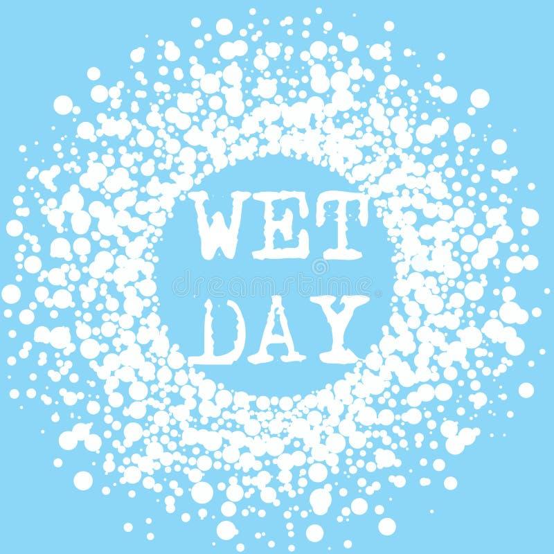 Wet Day Summer Typography Splash Sign royalty free stock image
