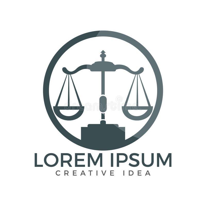 Wet en Procureur Logo Design stock illustratie