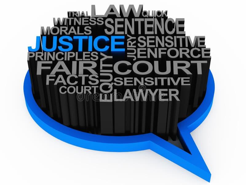 Wet en rechtvaardigheid vector illustratie