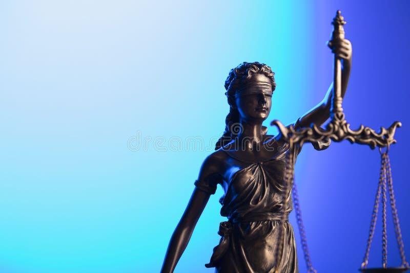 Wet en rechtvaardigheidsconcept Plaats voor typografie stock foto