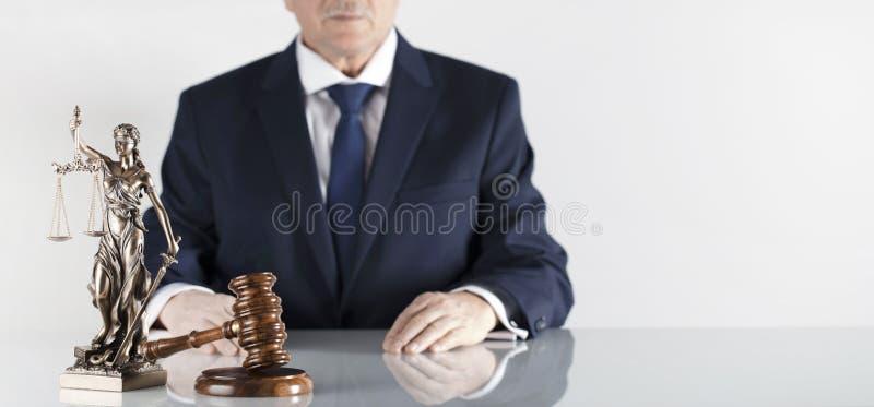 Wet en rechtvaardigheidsthema Wettelijk adviesbureau Plaats voor typografie stock foto