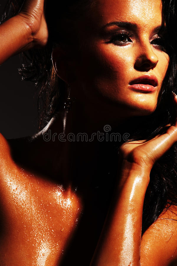 Download Wet Face stock image. Image of shadow, caucasian, beauty - 15135277