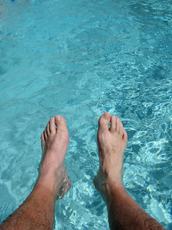 Wet Feet Royalty Free Stock Photography