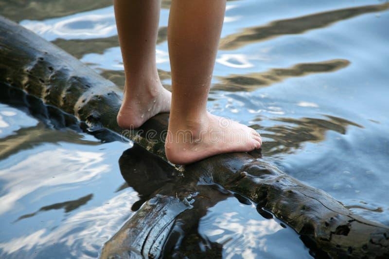 Wet feet royalty free stock image