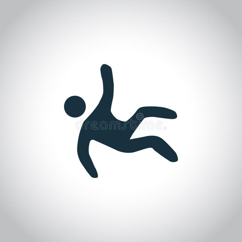 Wet Floor black icon stock illustration