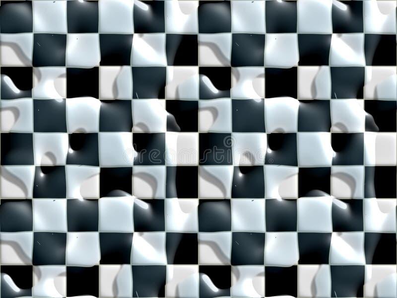 Wet floor black white tiles royalty free illustration