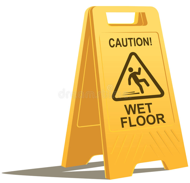 Free Wet Floor Caution Sign Royalty Free Stock Image - 17426376