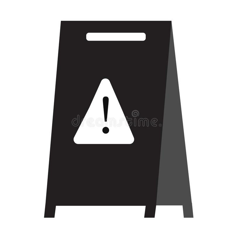 Wet floor icon on white background. flat style. wet floor icon for your web site design, logo, app, UI. warning symbol. caution royalty free illustration