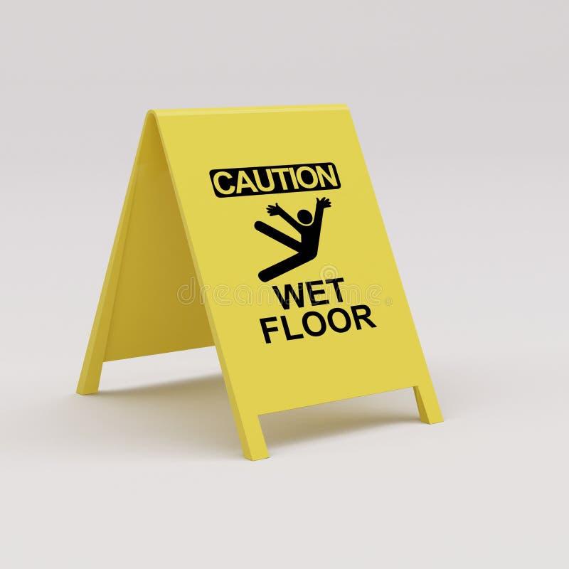 Wet floor panel royalty free stock photo