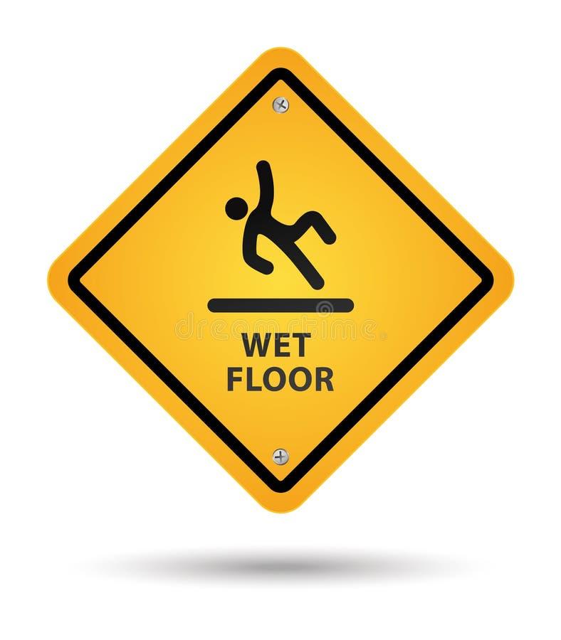 Download Wet floor sign stock vector. Image of indoors, mopped - 19915629