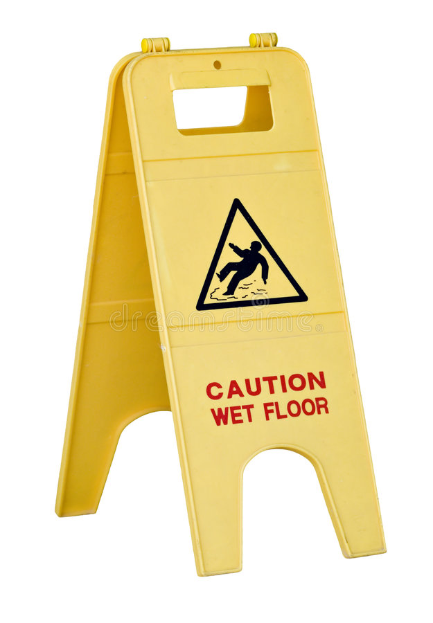 Wet floor sign royalty free stock images