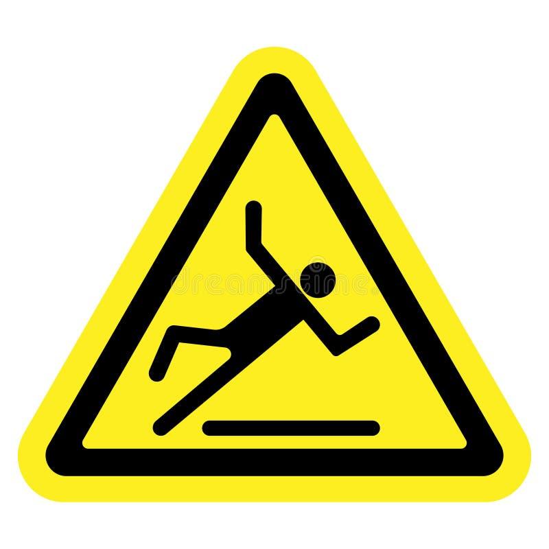 Slippery yellow sign stock illustration