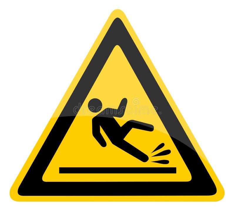 Wet floor warning sign, royalty free illustration