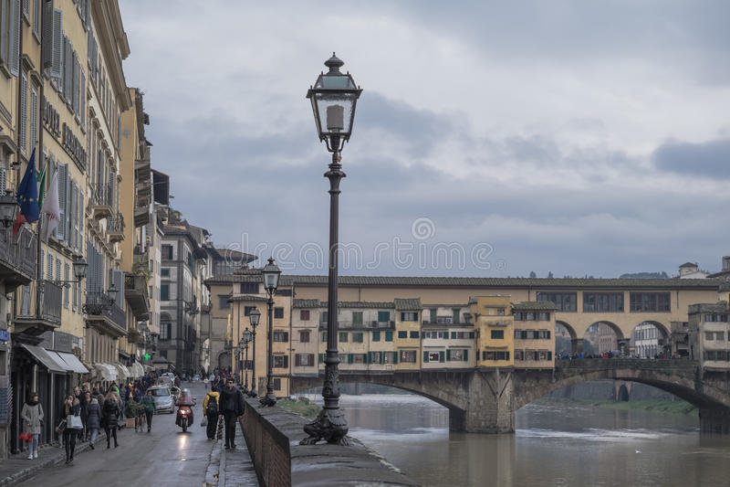 Wet Florence stock photo