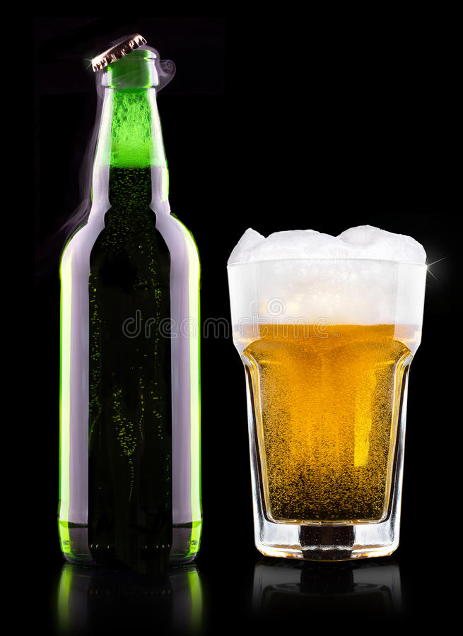 Wet Fresh Beer Royalty Free Stock Photos