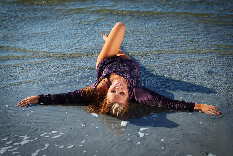 Download Wet girl stock photo. Image of sand, recreation, girl - 11211036