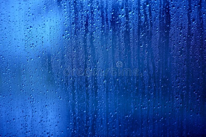 Download Wet Glass stock image. Image of texture, rain, blue, background - 24397629