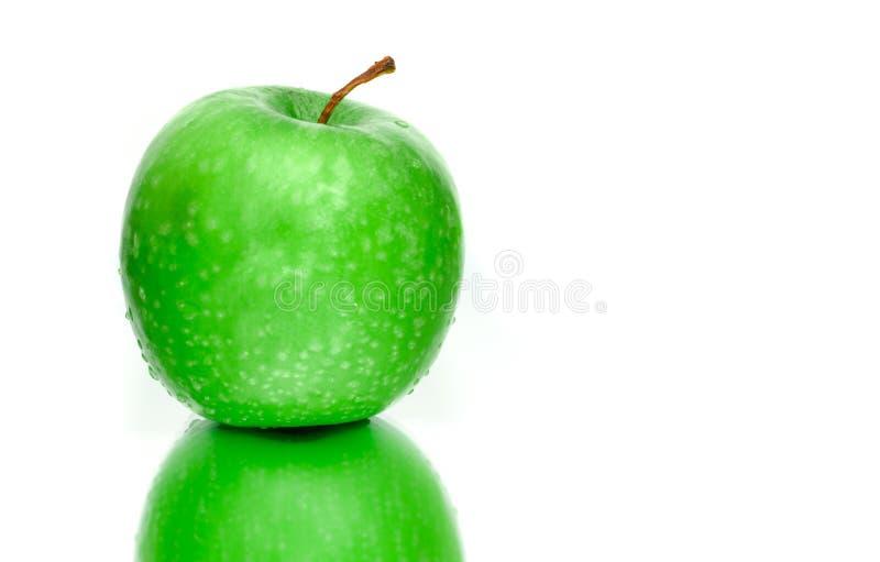 Wet Green Apple stock image