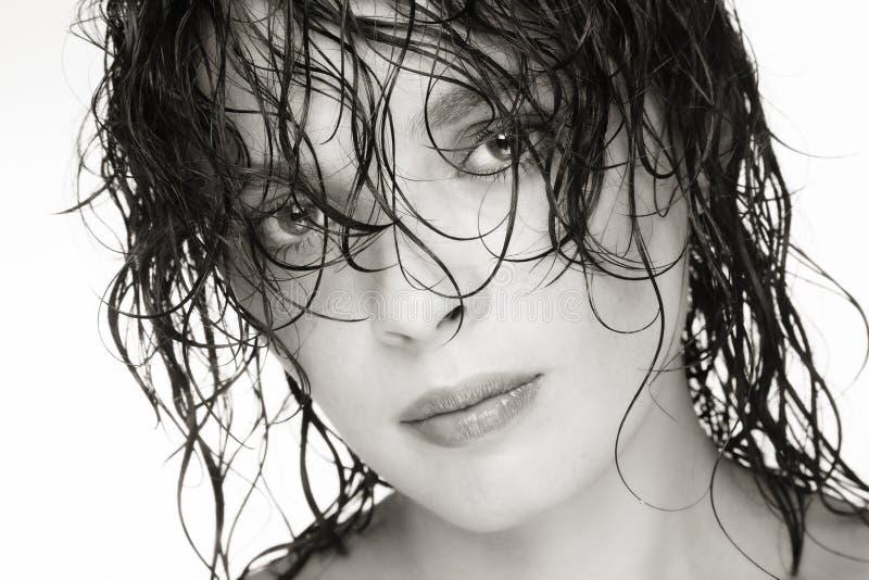 Wet hair stock photo