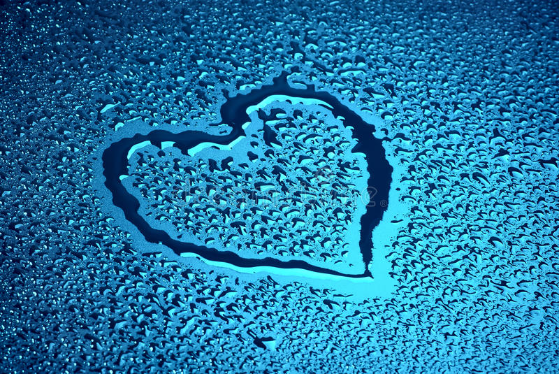 Download Wet heart stock image. Image of color, romance, shiny - 18095481