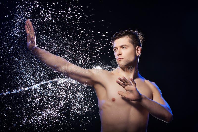 Wet Men. Stock Image