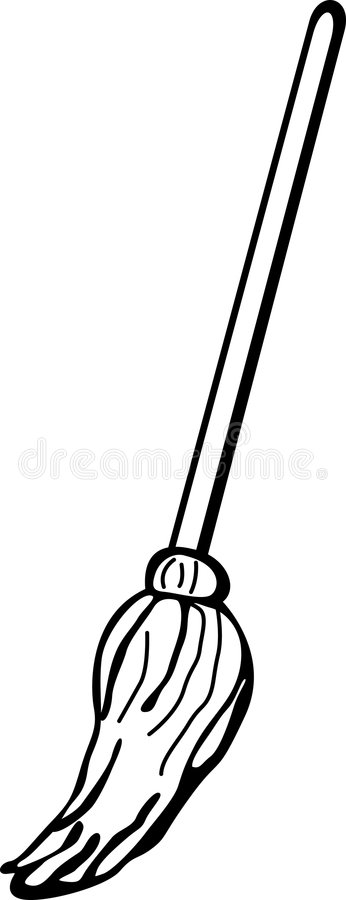 Wet Mop Vector Illustration Stock Image