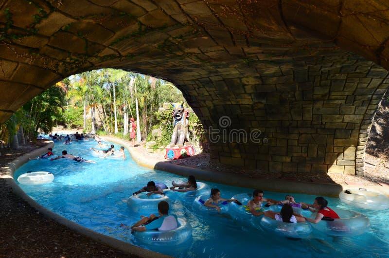 Wet'n'Wild Gold Coast Queensland Australien arkivfoton