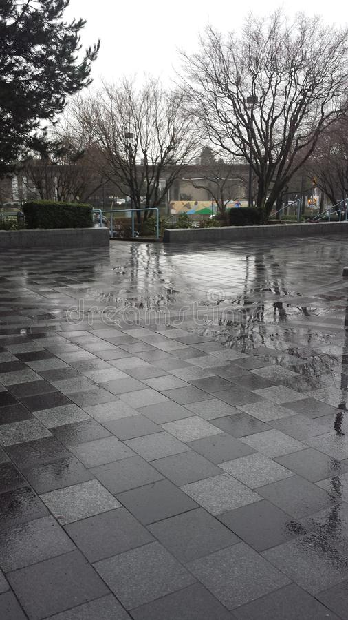 Wet pavement stock photography