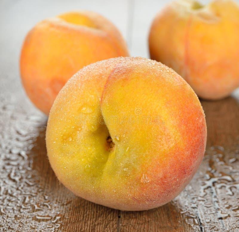 Wet Peach Stock Image