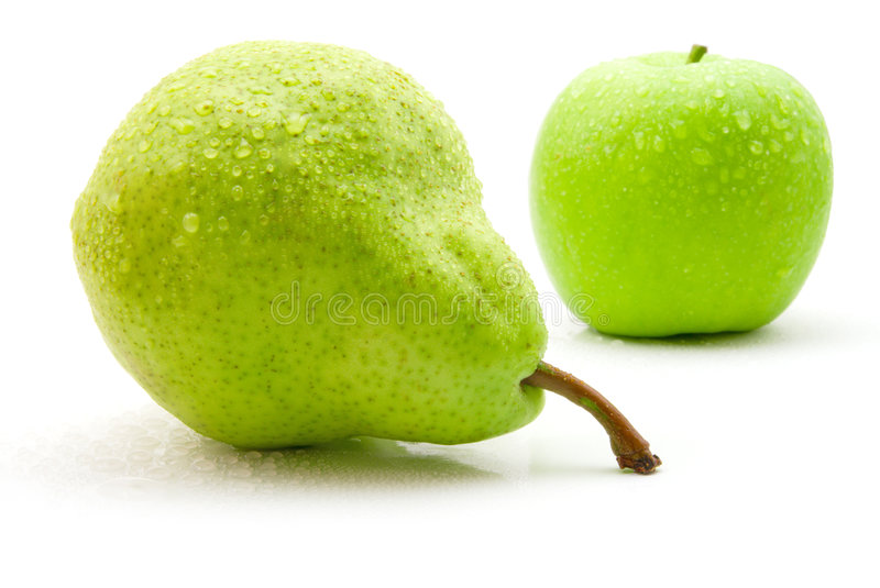 Download Wet Pear And Apple Royalty Free Stock Photography - Image: 5438977