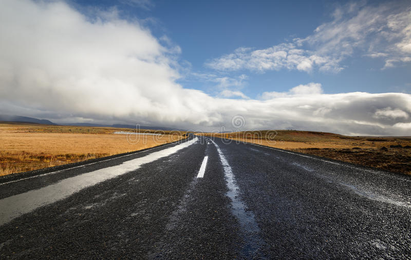Download Wet road stock image. Image of color, cloud, freeway - 27097343