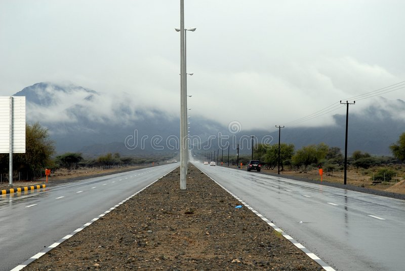 Wet Roads royalty free stock images