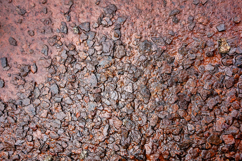 Wet Rusty Steel Metal Rough Surface Background stock image